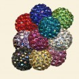 Mixed Shamballa Crystal Pave Beads - 10mm - Pack of 10