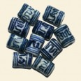 Chinese Porcelain Tube Beads - 8 x 10mm - Pack of 10
