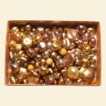 Brown / Gold Czech Mixed Glass Pearls - 50 Gram Pack