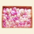 Pink Czech Mixed Glass Pearls - 50 Gram Pack