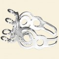 Silver Plated Ring with 4 Loops