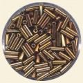 Bronze Glass Bugles - Packs of 8mm x 2mm