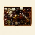 Brown Patterned Assorted Beads - 100 Gram Pack