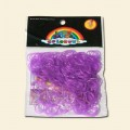 Purple Loom Band Pack - 200pcs