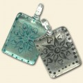Glass Silver Foil Pendants - Pack of 2