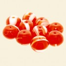 Orange Glass Cushion Beads - 10mm - Pack of 10