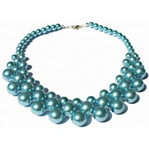 """Blue Skies"" Pearl Necklace"