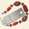 Red Glass Assorted Bead String