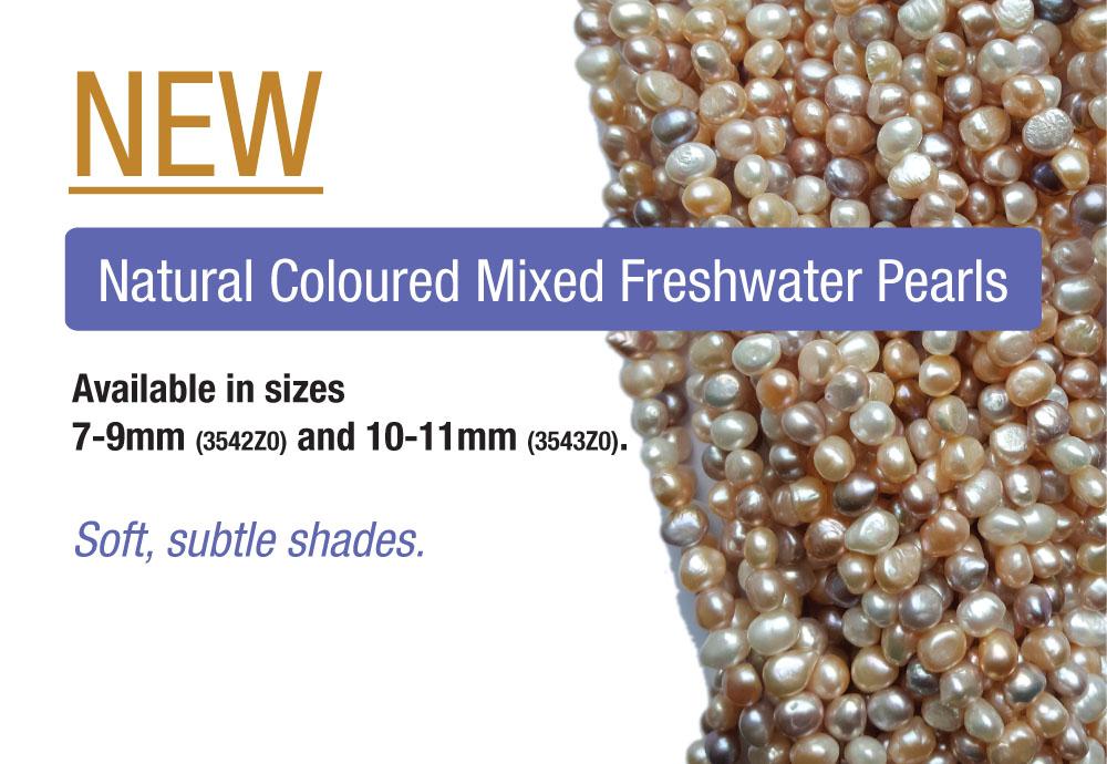 Natural mixed pearls